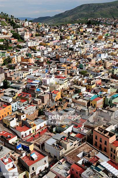 Mexico Bajio Zacatecas View over the city rooftops from cable car