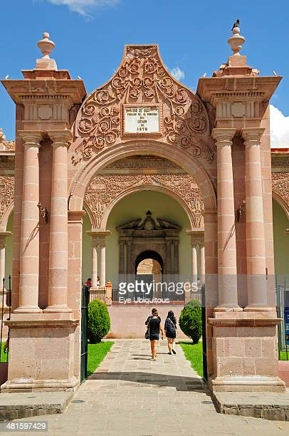 Mexico Bajio Zcatecas Entrance to the monastery of Guadalupe museum