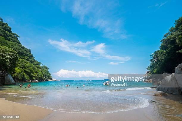 Mexico, Banderas Bay, Small Bay at Boca de Tomatlan