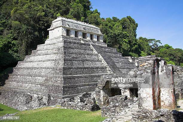 Mexico Chiapas Palenque Templo de las Inscripciones Temple of the Inscriptions