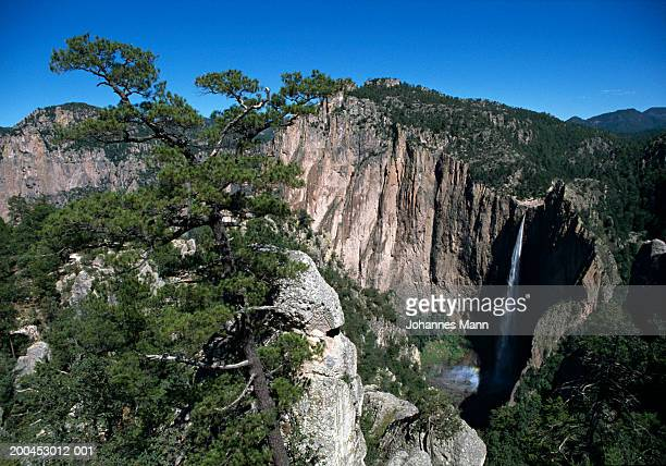 Mexico, Chihuahua, Basaseachic National Park, canyon and waterfall