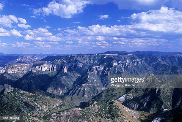 Mexico Chihuahua Copper Canyon National Park View Of Canyon Clouds