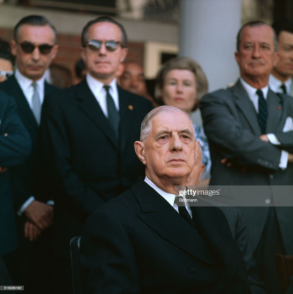 French President General Charles de Gaulle in Mexico during visit March 1964