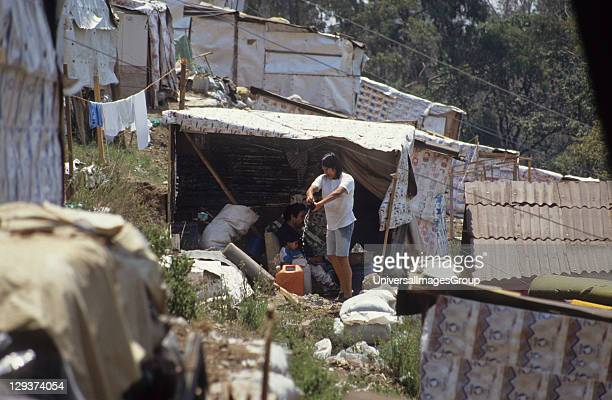 Mexico City The Poorest Of The Poor Newly Arrived From The Country These People Have Built Homes From Industrial Cardboard And Boxes They live around...