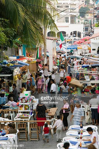 Mexico, Colima, Manzanillo, people at town fiesta