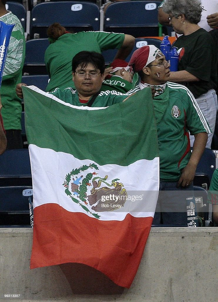 Mexico fans cheer on their team as they play Angola at Reliant Stadium on May 13, 2010 in Houston, Texas. Mexico won 1-0.