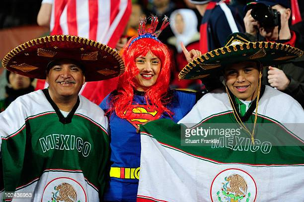 Mexico fans enjoy the atmosphere prior to the 2010 FIFA World Cup South Africa Round of Sixteen match between USA and Ghana at Royal Bafokeng Stadium...