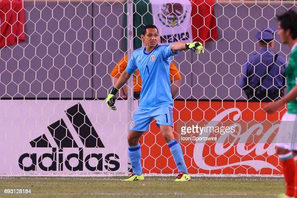 Mexico goalkeeper Rodolfo Cota during the game between Mexico and the Republic of Ireland on June 01 2017 at Met Life Stadium in East Rutherford NJ