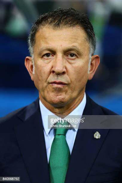 Mexico Head Coach Juan Carlos Osorio looks on during the FIFA Confederations Cup Russia 2017 SemiFinal between Germany and Mexico at Fisht Olympic...