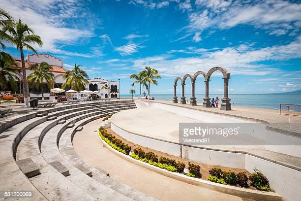 Mexico, Jalisco, Puerto Vallarta, Los Arcos amphitheater