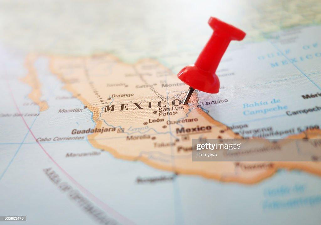 Mexico map pin : Stock Photo