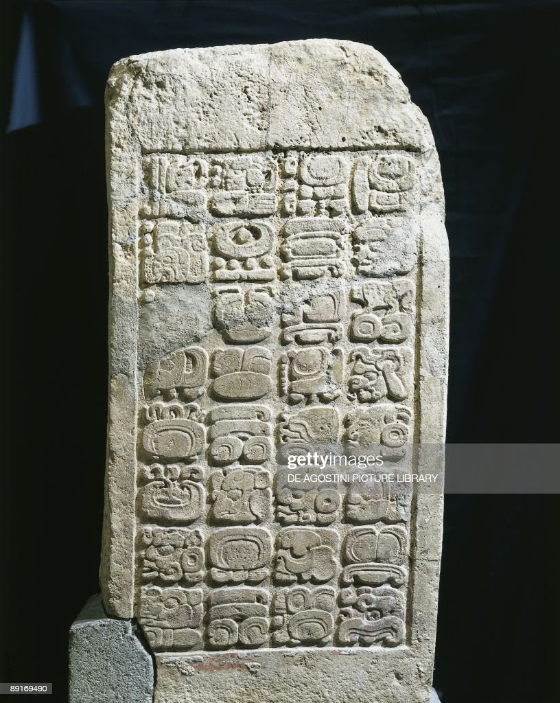Mexico Maya Civilization 6th century AD Architrave N47 with an inscription