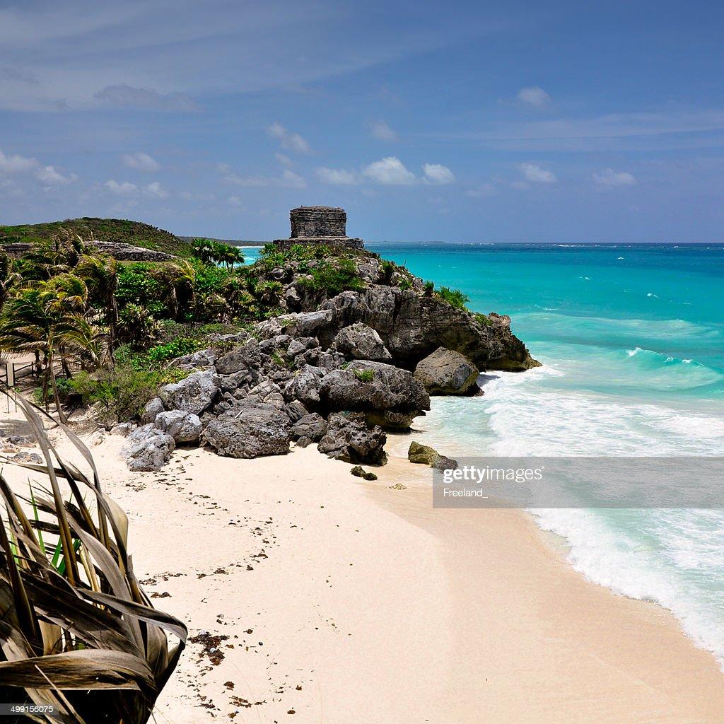 Mexico, Mayan City, seascape