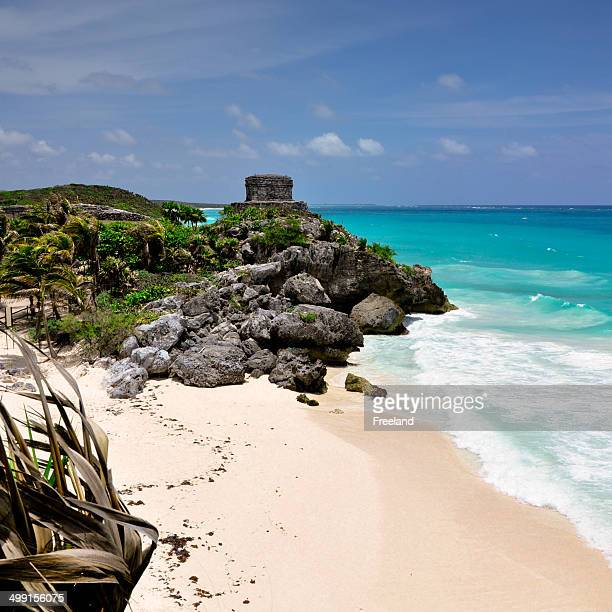 Mexico, Mayan City, seascape