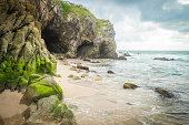 Mexico, Nayarit, Sayulita, Pacific Coast, beach with cave