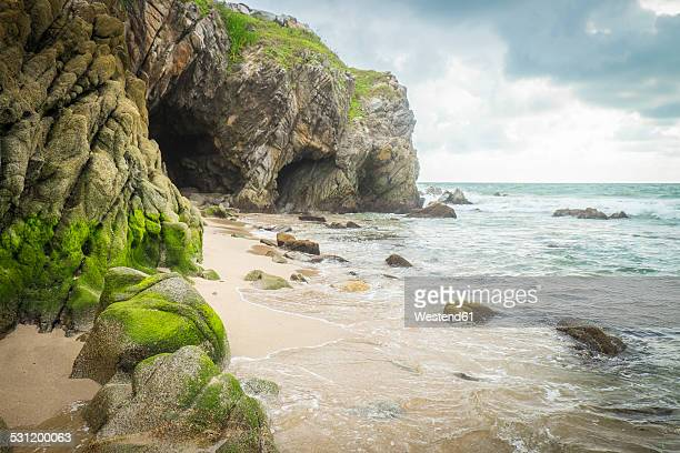 Mexico, Nayarit, Sayulita, Pacific Coast, beach with cave
