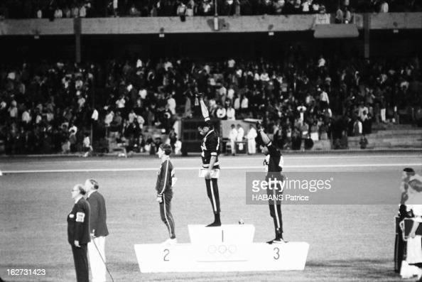 Mexico Olympics Games 1968 Les JO de Mexico du 12 au 27 octobre 1968 Athlétisme Les athlètes noirs américains protestent aux JO de Mexico 1968 les...