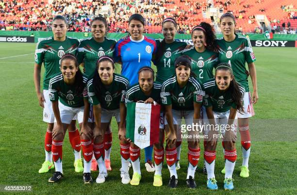 Mexico pose for a team photo prior to the FIFA U20 Women's World Cup Canada 2014 Group D match between Korea Republic and Mexico at the National...
