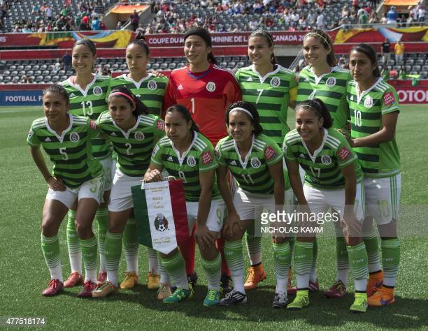 Mexico poses for a photo before a Group F match against France at Lansdowne Stadium in Ottawa on June 17 2015 AFP PHOTO/NICHOLAS KAMM