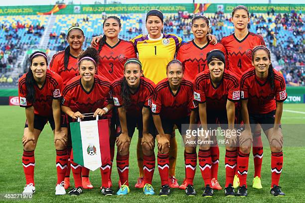 Mexico poses for a team photo prior to the FIFA U20 Women's World Cup Canada 2014 group C match between Mexico and Nigeria at Moncton Stadium on...