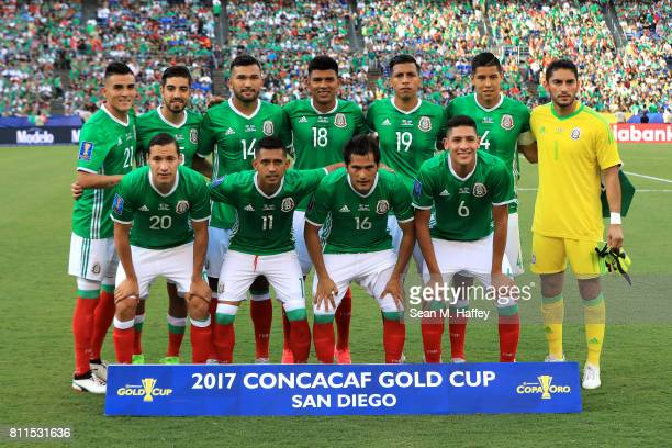 Mexico poses for a team photo prior to the first half of a 2017 CONCACAF Gold Cup Group C match against El Salvador at Qualcomm Stadium on July 9...