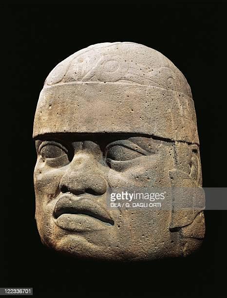 Mexico PreColumbian Olmec civilization La Venta Colossal head
