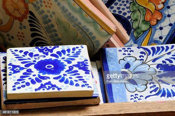Mexico Puebla Talavera ceramic tiles at Armando Gallery