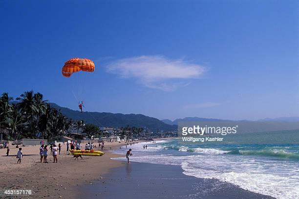 Mexico Puerto Vallarta Beach Scene Parasailing