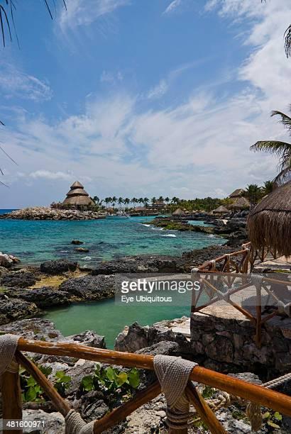 Mexico Quintana Roo Xcaret View across Xcaret Bay