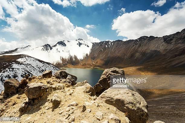 Mexico, Toluca, Toluca de Lerdo, view to snow-covered Nevado de Toluca