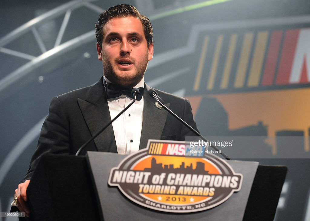 Mexico Toyota Series champion Rodrigo Peralta speaks during the NASCAR Night of Champions at Charlotte Convention Center on December 14, 2013 in Charlotte, North Carolina.