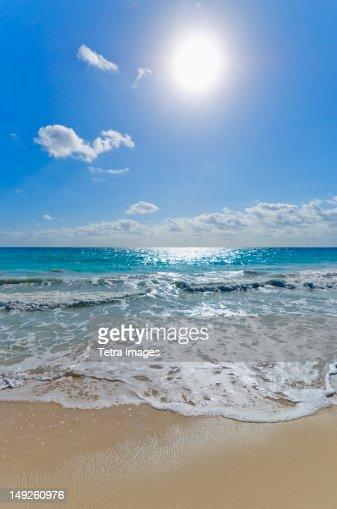 Mexico, Yucatan, Beach : Stock Photo