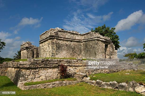 Mexico Yucatan Peninsula Near Cancun Riviera Maya Maya Ruins Of Tulum Tomb