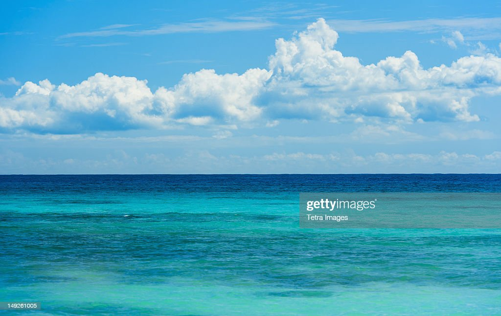 Mexico, Yucatan, Turquoise sea : Stock Photo