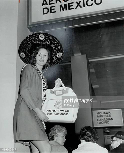 Mexicobound Carol Ann Robertson Miss Toronto leaves yesterday for Tampico Mexico to take part in the city's Mardi Gras celebrations