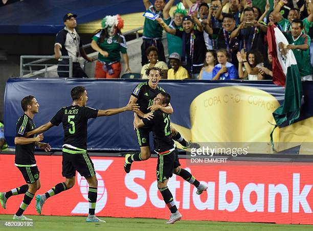 Mexico's Andres Guardado celebrates his goal during the 2015 CONCACAF Gold Cup final between Jamaica and Mexico in Philadelphia on July 26 2015 AFP...