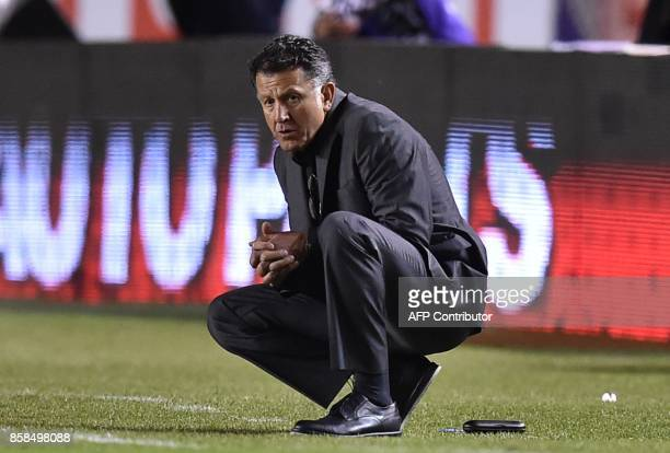 Mexico's coach Juan Carlos Osorio is pictured during the 2018 World Cup qualifier football match against Trinidad and Tobago in San Luis Potosi...
