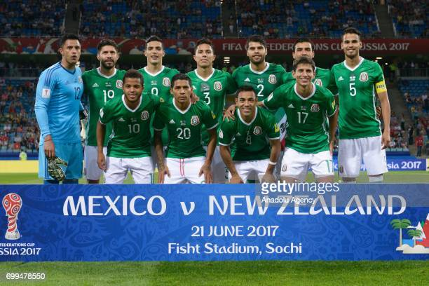 Mexico's footballers pose for a photo before match the FIFA Confederations Cup 2017 group B soccer match between New Zealand and Mexico in Sochi...