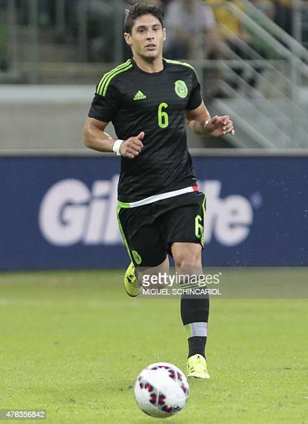Mexico's Javier Guemez during a friendly match in preparation for Copa America Chile 2015 at Allianz Parque stadium in Sao Paulo Brazil on June 07...