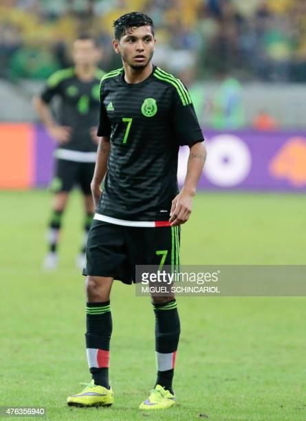 Mexico's Jesus Manuel Corona during a friendly match in preparation for Copa America Chile 2015 at Allianz Parque stadium in Sao Paulo Brazil on June...
