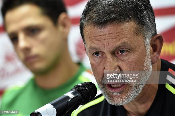 Mexico's national football team coach Juan Carlos Osorio speaks sduring a press conference at the Rommel Fernandez stadium in Panama City on November...