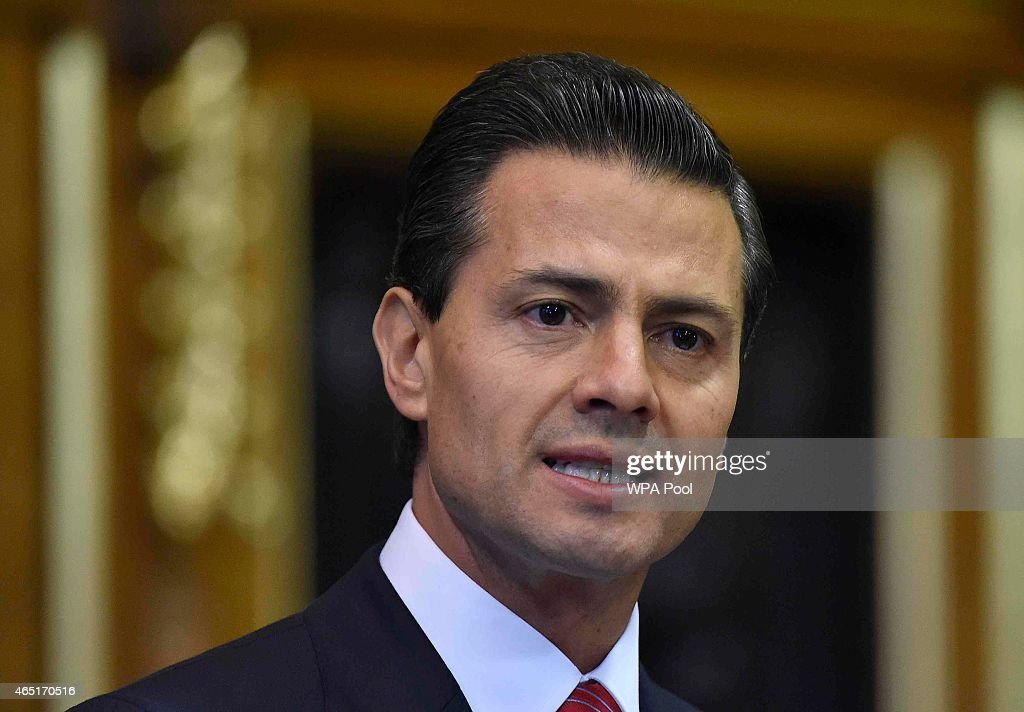 Mexico's President Enrique Pena Nieto delivers an address to members of the British All-Party Parliamentary Group at the Houses of Parliament on March 3, 2015 in London, England. The President of Mexico, accompanied by Senora Angelica Rivera de Pena, are on a State Visit to the United Kingdom as the guests of Her Majesty The Queen from Tuesday 3rd March to Thursday 5th March.