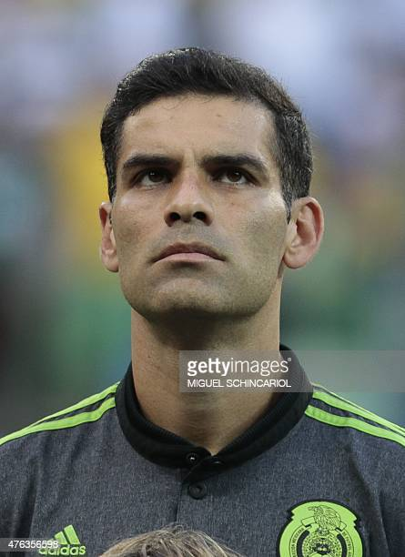 Mexico's Rafael Marquez during a friendly match against Brazil in preparation for Copa America Chile 2015 at Allianz Parque stadium in Sao Paulo...