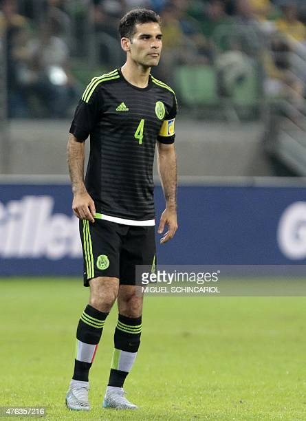 Mexico's Rafael Marquez during a friendly match in preparation for Copa America Chile 2015 at Allianz Parque stadium in Sao Paulo Brazil on June 07...