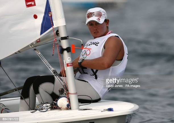 Mexico's Tania Elias Calles during the Women's Laser Radial Opening Series at the 2008 Beijing Olympic Games Sailing Centre in Qingdao China
