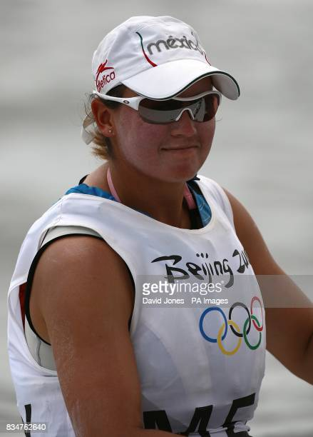 Mexico's Tania Elias Calles during the Women's Laser Radial Opening Series at the 2008 Beijing Olympic Games' Sailing Centre in Qingdao China