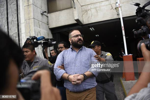 Mexico's Veracruz state governor Javier Duarte wanted on corruption charges by the US authorities is seen after a hearing regarding his extradition...