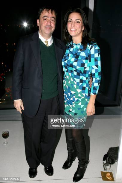 Meyer Aroch and Kristin Barbato attend DRINKS IN JEAN NOUVEL PENTHOUSE hosted by Holly Parker Trish Riedel and Philip Tabor at 100 11th Avenue on...