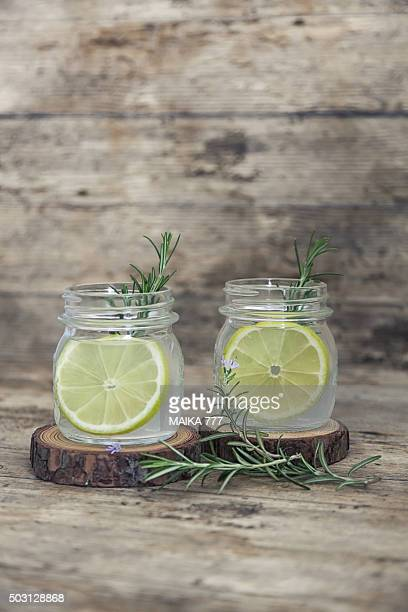 Meyer lemonade with rosemary