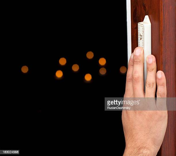 Mezuzah touch and kiss.